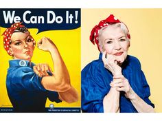 """See Rosie the Riveter at 95: Woman Who Inspired WWII Poster Was Lost to History for 7 Decades. When Naomi Parker-Fraley first saw the iconic poster, she recalls, """"I did think it looked like me, but nobody ever mentioned it"""". Knowing that she was one of more than 6 million women who entered the workforce during World War II, she figured she was far from alone in seeing herself in the image that has become a symbol of modern feminism."""