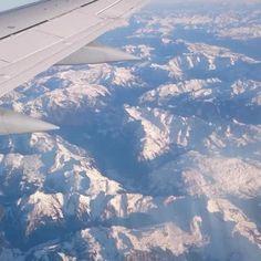 #plane #travel #mountains #alps #window