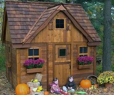 Get your kids off the couch and into the pretend world of the cottage playhouse. This delightful multi-level playhouse provides ample natural lighting and features a small ladder to easily get up and down from the cozy loft living area.