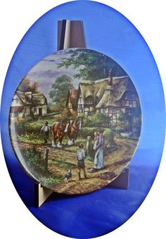 Wedgwood plate, fine bone china, country days, ploughing, Josiah Wedgwood, made in England, potteries,collectables, ltd edition, horses, Wedgwood, Bone China, England, Pottery, Horses, Plates, Country, Tableware, Handmade Gifts