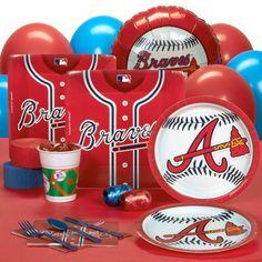 Atlanta Braves Baseball Party Pack for 18 Guests