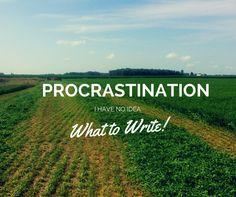 Procrastination: I H