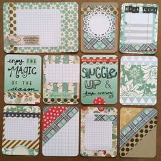 Handmade journaling cards perfect for Project Life Journaling