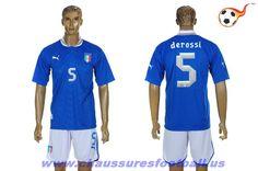 Italie Maillot derossi 5 Domicile 2012-2013 FT3945