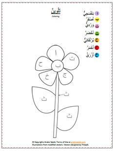 Nature Unit for kids - Arabic Bundle - Arabic Seeds Preschool Learning Activities, Preschool Printables, Alphabet Activities, Arabic Alphabet For Kids, Islam For Kids, Arabic Lessons, Cute Coloring Pages, Arabic Language, Learning Arabic