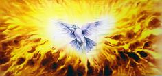 """John 1:32 The Spirit Descending From Heaven Like A Dove. After Jesus was baptized Jehovah spoke from heaven saying """" This is my Son the beloved,whom ,I (Jehovah) have approved."""""""