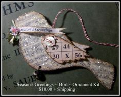 DIY:: Season's Greetings Glittered Sheet Music Bird Ornament
