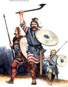 Frankish warriors 5 AD