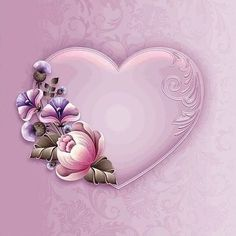 Moonbeam's Pink Passion - a pink-hued package - is exclusively designed inspired by the art of one-stroke brush painting. Heart Wallpaper, Flower Wallpaper, Heart Art, Love Heart, Flower Frame, Flower Art, Molduras Vintage, Diy Gift Box, Borders And Frames