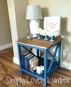 Build a Refined X End Table featuring Simply Lovely Lumber | Free and Easy DIY Project and Furniture Plans