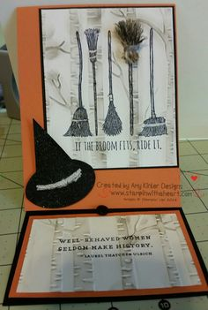 If the Broom Fits with Woodland Textured Embossing folder - Stampin' Up!