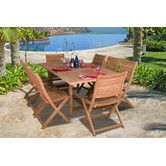 Found it at AllModern - Amazonia Teak  9 Piece Dining Set