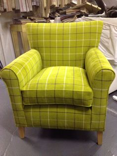 Clients chair removed in 'Romo' Tartan