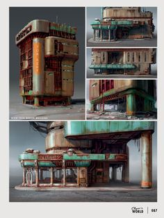 """The art of Fallout4"" Video game ""Fallout4"" concept art. High-tech office building. #Sci_Fi #Illustration #fallout #Post_Apocalyptic"