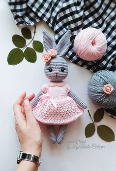 63 Free Crochet Bunny Amigurumi Patterns Crochet Pretty Bunny Amigurumi In Dress – Free Pattern – 63 Free Crochet Bunny Amigurumi Patterns – DIY & CraftsAre you looking for best crochet amigurumi? Checkout these 63 free Crochet Bunny Amigurumi Patte Crochet Baby Toys, Easter Crochet, Cute Crochet, Crochet Crafts, Crochet Dolls, Diy Crafts, Crochet Mignon, Crochet Bunny Pattern, Crochet Patterns Amigurumi
