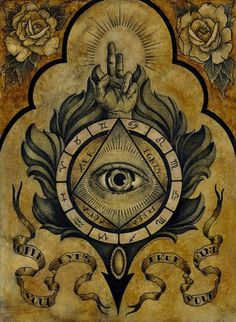 Join the Illuminati and tap into a network of world leaders for success, wealth & spiritual enlightenment. Find out how to become a member of the Illuminati. Tatoo Art, Tattoo Drawings, Tattoo Ink, Sleeve Tattoos, Magick, Witchcraft, Celtic Knot Tattoo, Esoteric Art, Arte Obscura