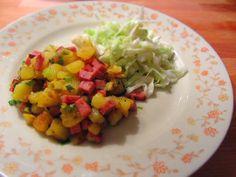 Ina Is(s)t: Kartoffel-Leberkäse-Pfanne mit Krautsalat