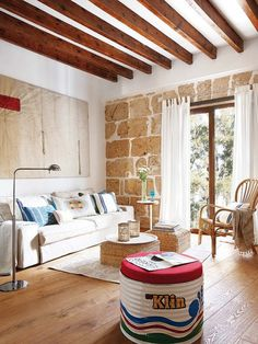 Un piso con aires de loft suelo y pared