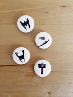 Thor vs Loki Magnet/Badge Set by HoneysDead on Etsy, $7.00
