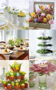 beautiful Spring/Easter themed table decor