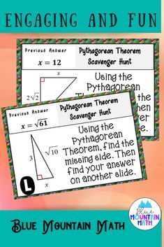 Looking for a fun, engaging activity that gets the kids moving and talking about math? In this resource, students practice using the Pythagorean theorem and you can choose between a printed activity or digital (self-grading) activity. The printed activity works great in the classroom while the digital activity can be used for distance learning or absent students. Or use them both!