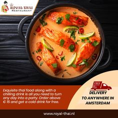 Get a free cold drink as you order above 15 euros. . . . #SafetyFirst #OnlineOrder #FreeDelivery #Thai #ThaiFoods #ThaiDishes #Cuisines #FoodPorn #Foodie #ThaiCuisine #Restaurant #Yummy #Delicious #ThaiFoodLover #FoodBlogger #SeaFood #ThaiRestaurant #RoyalThai #HygienicEnvironment Best Thai Restaurant, Thai Dishes, Thai Recipes, Cold Drinks, Thai Red Curry, Amsterdam, Seafood, Food Porn, Free