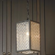 """Rectangle Radiator Screen Pendant - Why not wood frame ? then you wouldn't need a """"skilled local metalworker"""" to bring it to life."""