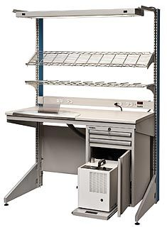 Lista Arlink® 8000 dental technician workstation with integrated dust collection Dental Technician, Dental Laboratory, Workbenches, Dust Collection, Kitchen Cart, Labs, Storage Ideas, Teeth, Computers