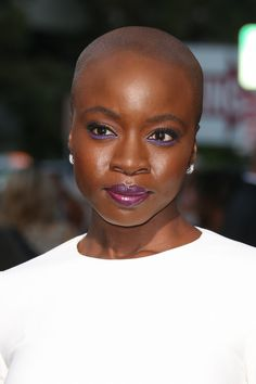 Danai Gurira - Beautiful Braids, Curls and Locs Spotted at the 'All Eyez On Me' L. Natural Afro Hairstyles, Natural Hair Styles, Black Hairstyles, Tapered Hairstyles, African Hairstyles, Short Hair Cuts, Short Hair Styles, Bald Women, Beautiful Braids