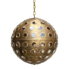 Luna Globe by Downtown. Vintage brass finish.