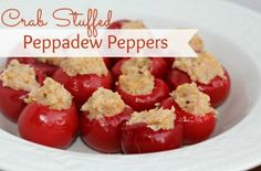 Crab and Cheese Stuffed Peppadew Peppers  l  www.lorisculinarycreations.com  l  #peppadew #holidays #appetizer