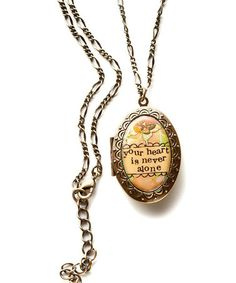 Love this Gold 'Never Alone' Locket on #zulily! #zulilyfinds
