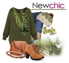 """""""Newchic Loose Plus Size Casual Pocket Solid Long Sleeve Split Knit Pullover/Sweater"""" by teez-biz-nez ❤ liked on Polyvore featuring women's clothing, women's fashion, women, female, woman, misses, juniors and newchic"""