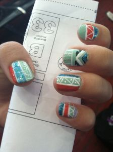 Tribal nails how to!