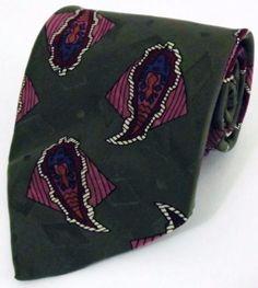 Men's Robert Talbott Parisian Handsewn in the USA Silk Green Paisley Tie NWOT