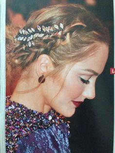Braid hair clip makeup