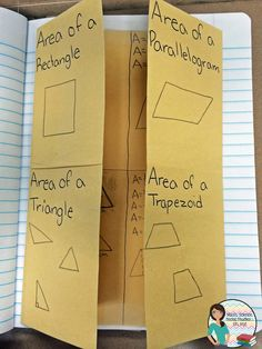 I think foldables are a fun and interactive way for students to both be creative and create their own personal formula chart of the areas of shapes