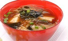 Receta de Sopa de algas con chispas de tempura