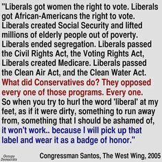 Liberal & Proud! Proud I'm not an ignorant repuKKKe.