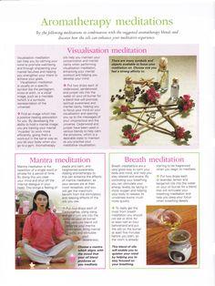 Aromatherapy meditations