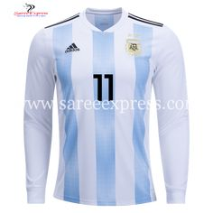 69afeb75b Adidas Angel Di Maria Long Sleeve Argentina Home Jersey World Cup 2018