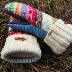Download Felted Wool Mittens - Lined with Fleece Sewing Pattern | Cold Weather Clothing | YouCanMakeThis.com
