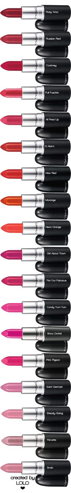 M·A·C Lipstick | LOLO❤