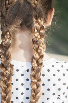 Hair Romance - Back to school hair - criss cross braids hairstyle tutorial