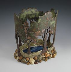 stunning new piece by Sassafrass Pottery's Sarah Gutierrez