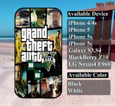 Breaking Bad GTA case  iPhone 4/4s iPhone5 iPhone5s by vallenshop, $13.50