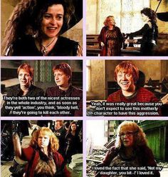 """Molly Weasley is a savage.  """"Not my daughter you bitch."""""""