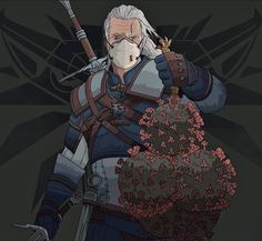 The Witcher Geralt vs Coronavirus. Art of game - The Witcher Wild Hunt. Witcher 3 Geralt, Witcher Art, Geralt Of Rivia, The Witcher Wild Hunt, The Witcher Game, Yennefer Of Vengerberg, Digital Portrait, Lol, Funny Comics