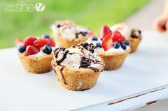 Chocolate chip cookie bowls | How Does She...