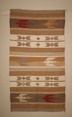 Chinle Pictorial Navajo Weaving with Thunderbirds $900